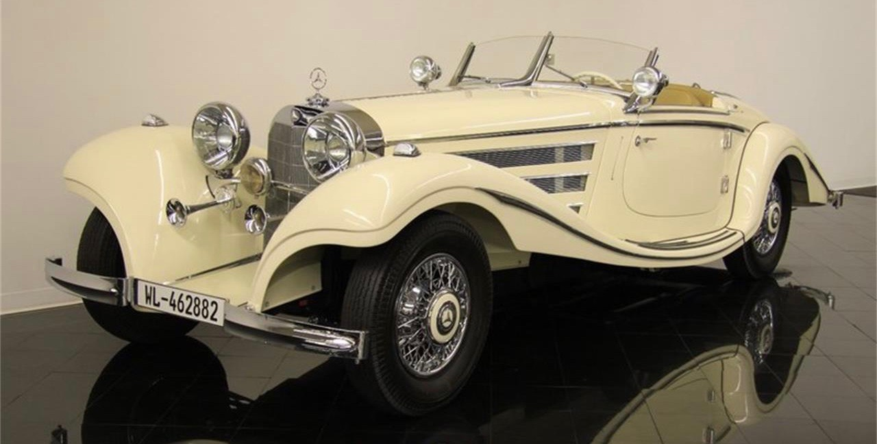 1935 Mercedes-Benz 500K Special Roadster has been to many concours since it's 5-year restoration