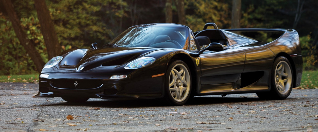 Rare black-colored F50 | RM Sotheby's photo by Drew Shipley