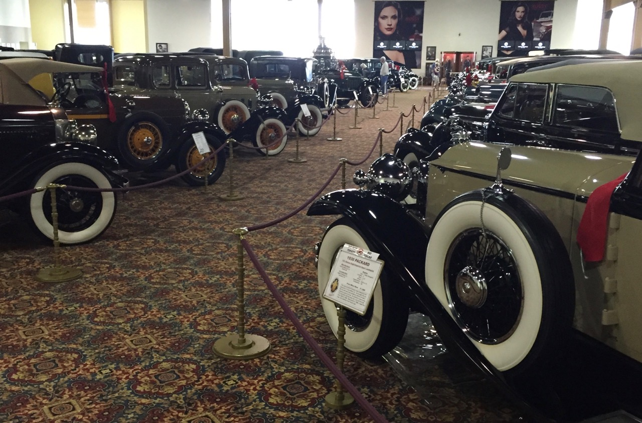 Row upon row of cars on display