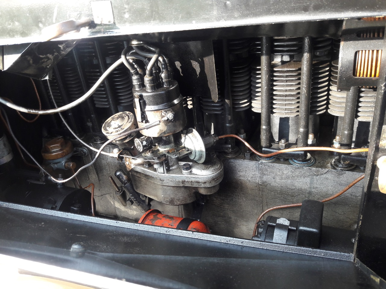 Engine is air-cooled