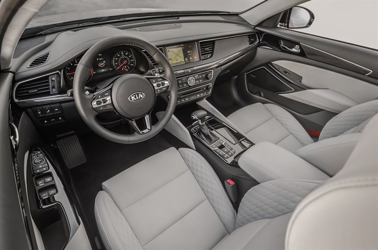 Interior has quilted leather on its seats