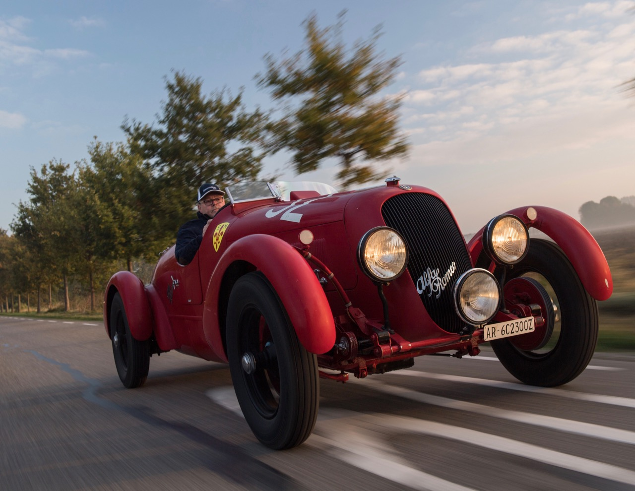 1934 Alfa Romeo 6C 2300 Pescara spider at speed