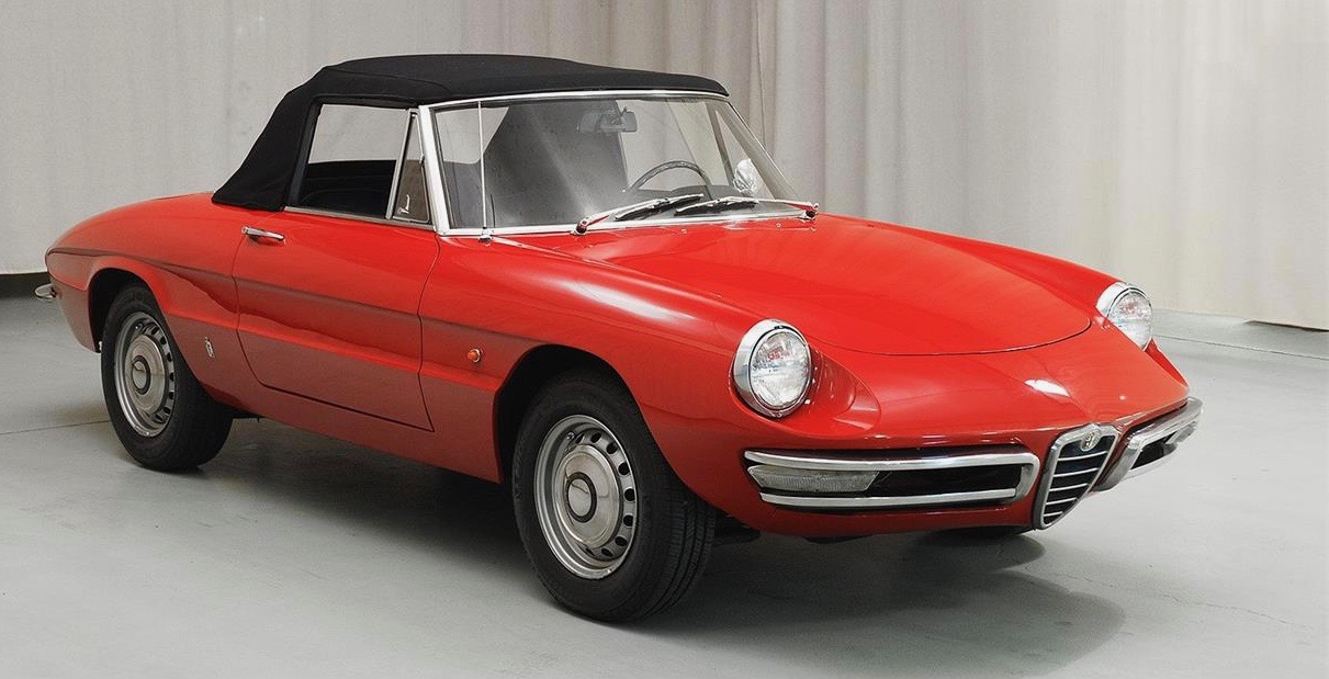 Late '60s (this is a '67) Alfa Duetto Spiders are No. 1 on Andy's list