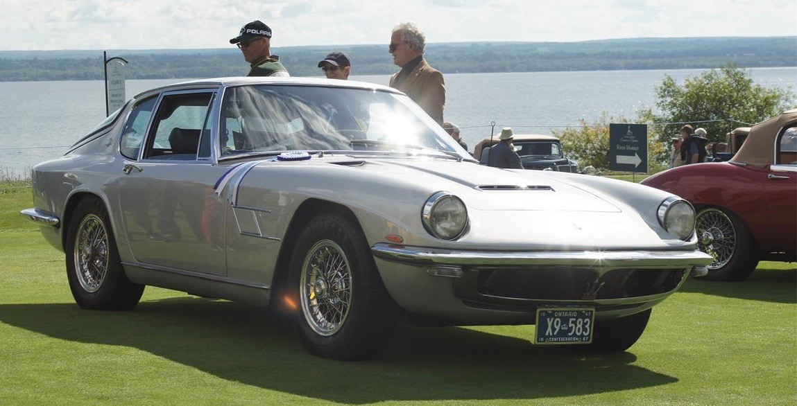 1967 Maserati Mistral on display at the 2016 Cobble Beach concours