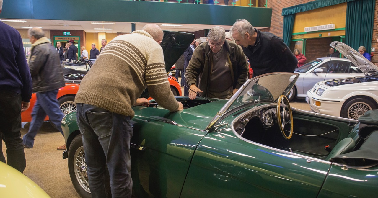 Bidders take a look during the H&H Classics auction preview | H&H Classics photos