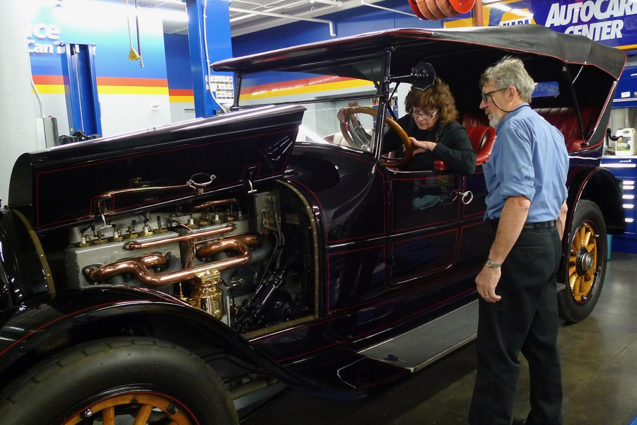 Museum collections manager Renee Crist and Dale Wickell oversaw the car'srestoration