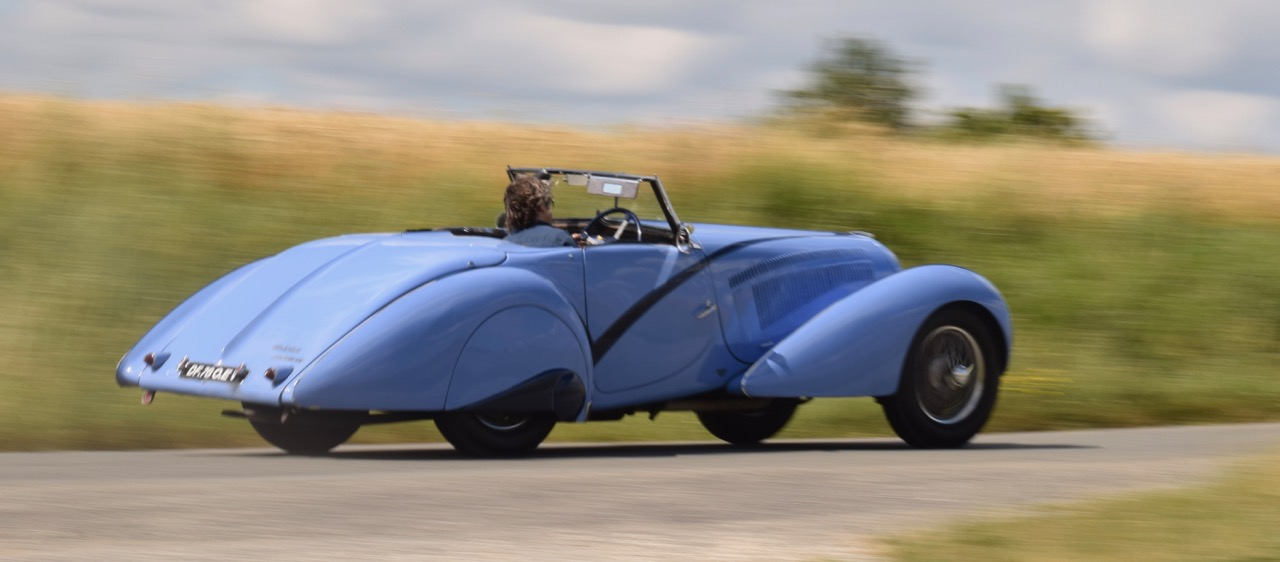 The Delahaye 135 at speed