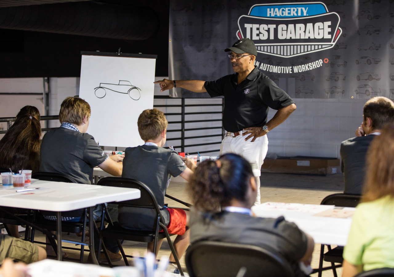 Former GM design head Ed Wilburn leads Hagerty Test Garage session at Hershey | Hagerty photo