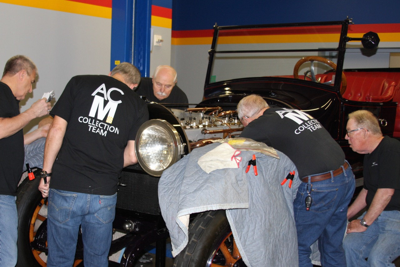 Museum crew makes sure car is ready for its homecoming
