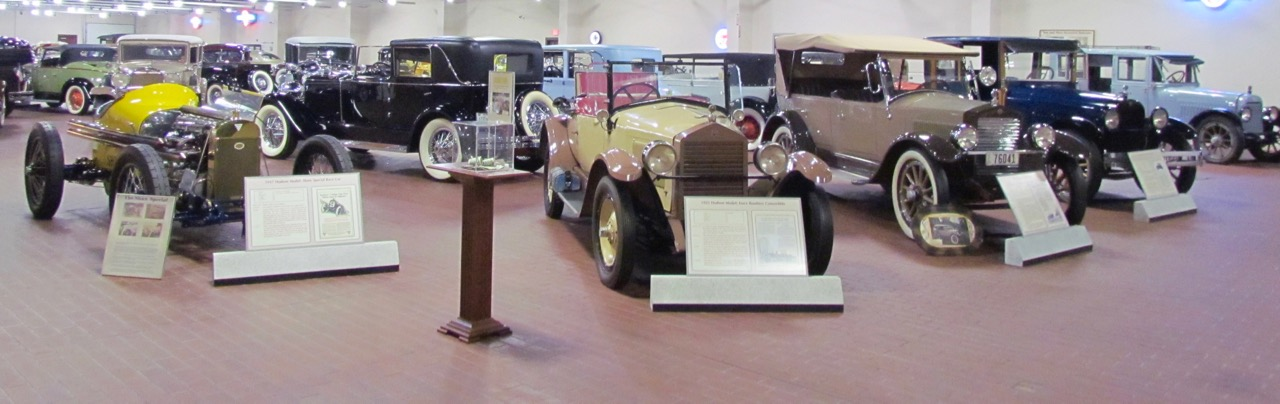 A few of the cars in the Hostetler Hudson Museum in Shipshewana, Indiana | Larry Edsall photos