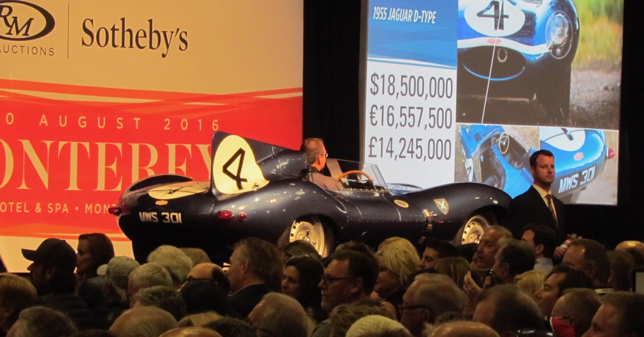 Le Mans-winning D-type Jaguar sets record for highest auction price paid for a British car | Larry Edsall photos