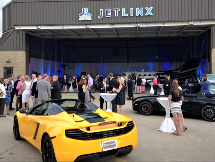 The JetLinx hangar has seen its share of upscale parties | Jet Center Events