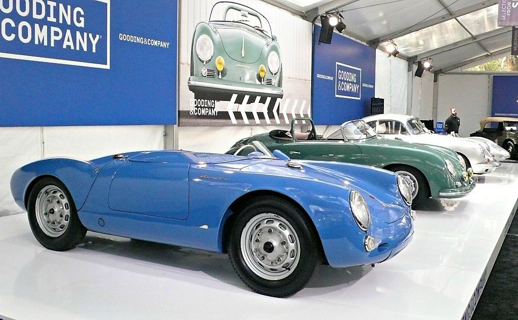 The blue 1955 Porsche 550 Spyder was the top seller at more-than $5.3 million | Bob Golfen photos