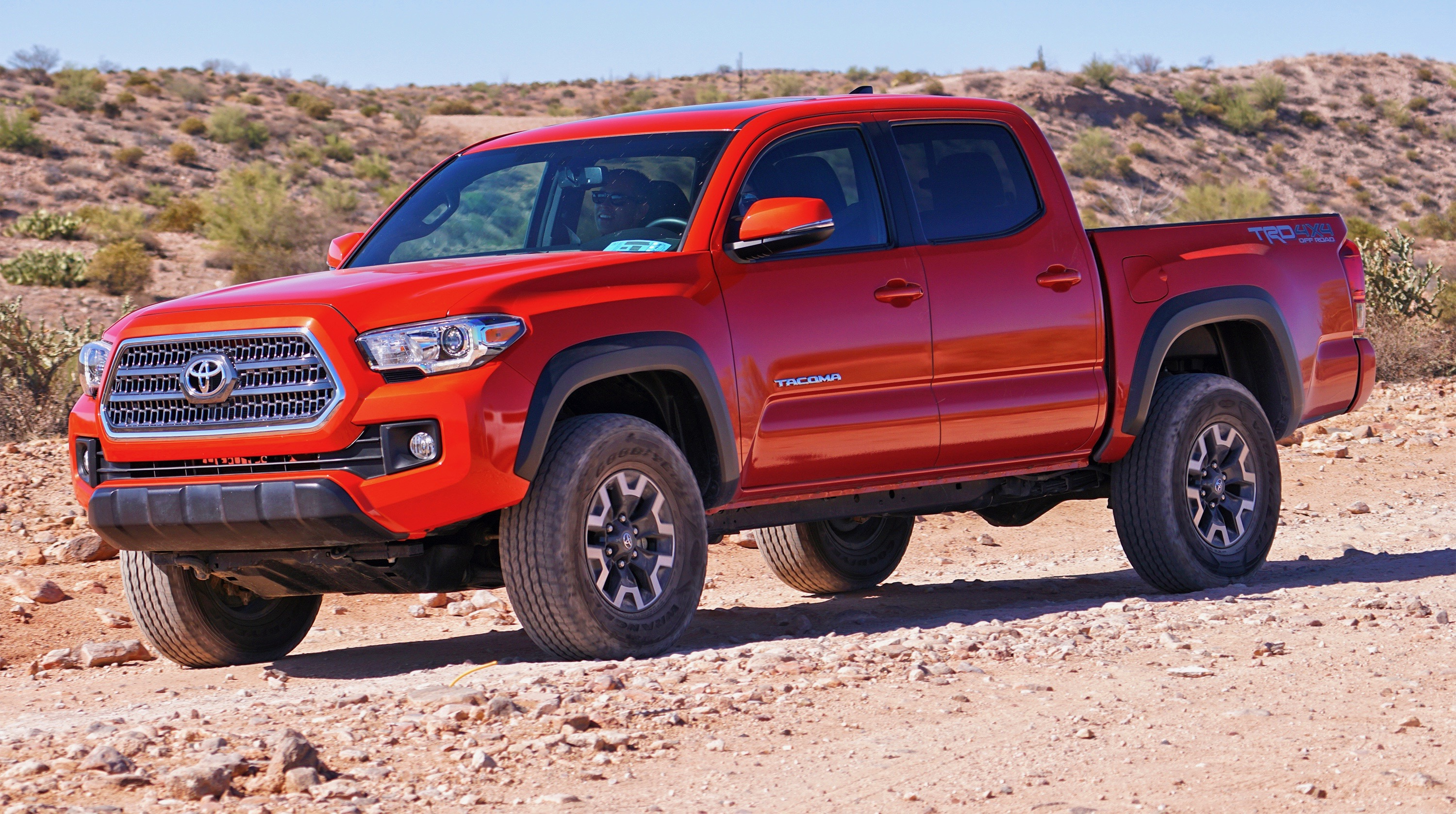 2016 Tacoma with TRD Off-Road package during recent media event in Phoenix | Mark Elias Media Services photo