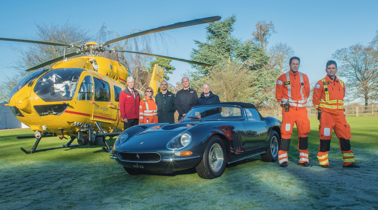 Richard Allen's Nembo Spyder and the East Anglia Air Ambulance Service team | H&H Classics photos