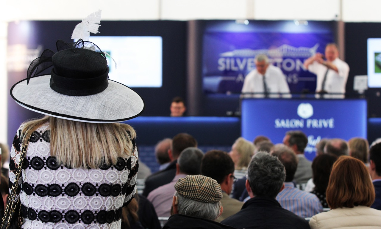 The scene at Silverstone's Salon Prive auction in 2016 | Silverstone Auctions photos