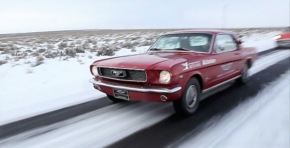 The 1966 Ford Mstang during last year's The Drive Home