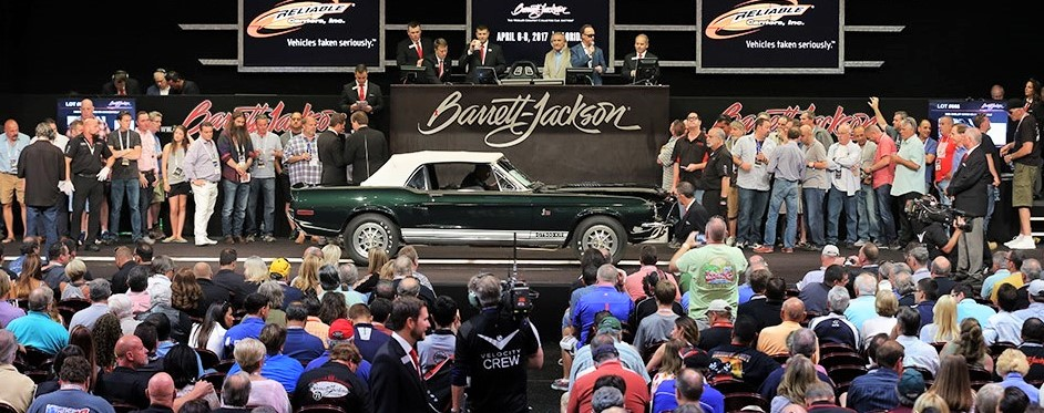A 1968 Shelby GT500 KR convertible at the inaugural Northeast Auction | Barrett-Jackson photos
