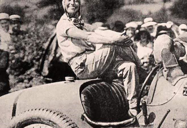 'Bugatti Queen' at Arizona Concours women-in-racing seminar