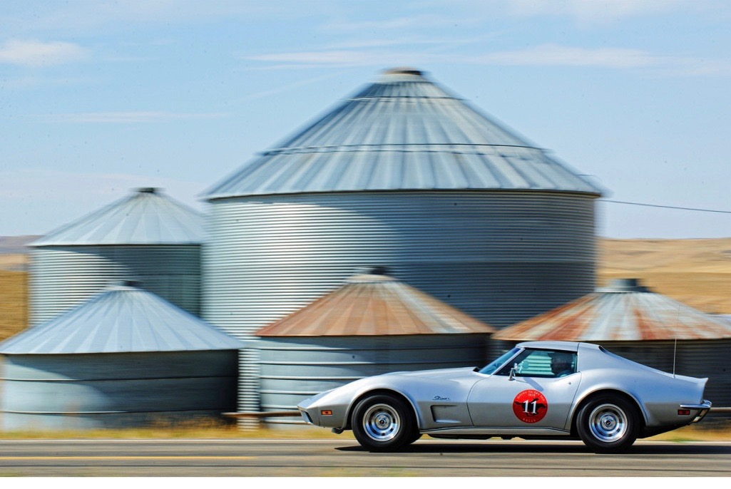 A classic Corvette on the rally
