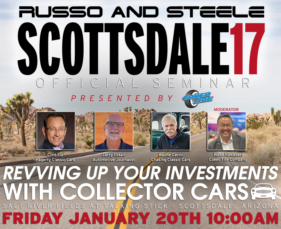 I'll be a panelist at Coker Tire's presentation at Russo and Steele