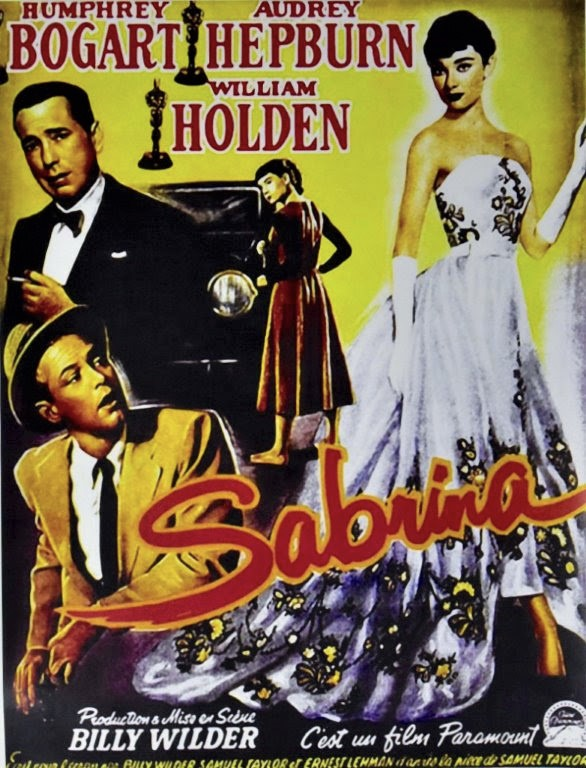 A poster for the 1954 film 'Sabrina'