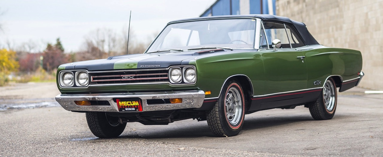 1969 Plymouth Hemi GTX convertible is one of 11 | Mecum Auctions photos