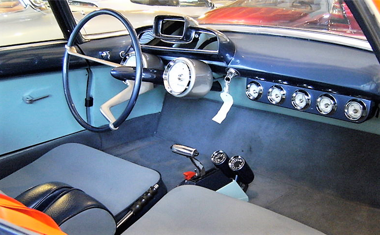 There are no driver pedals, with hand controls instead