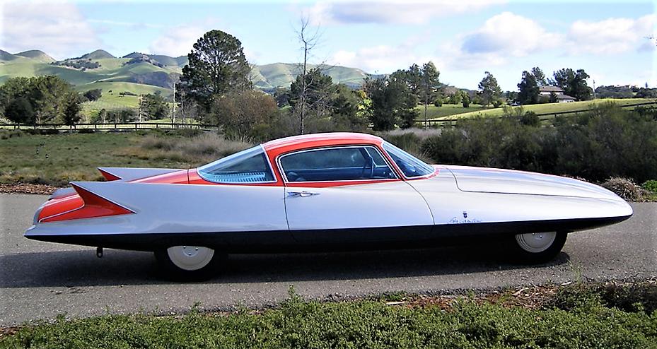 The turbine-powered Chrysler Ghia Streamline X 'Gilda' was designed with the aid of a wind tunnel | Barrett-Jackson photos