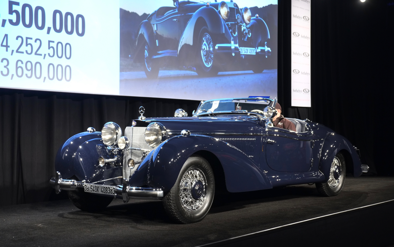 Mercedes Special Roadster was the top sale Friday, bringing $6.6 million at RM Sotheby's | Andy Reid photo