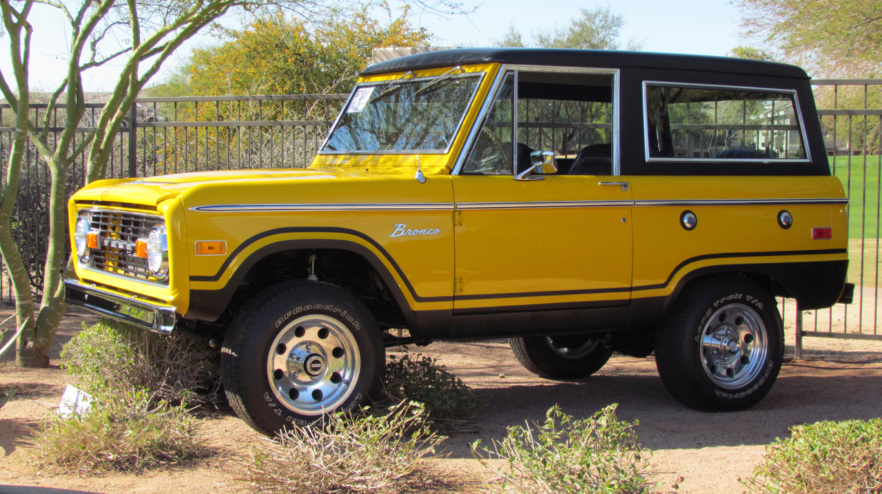 Ford Broncos like this one at Bonhams were popular with bidders in Arizona