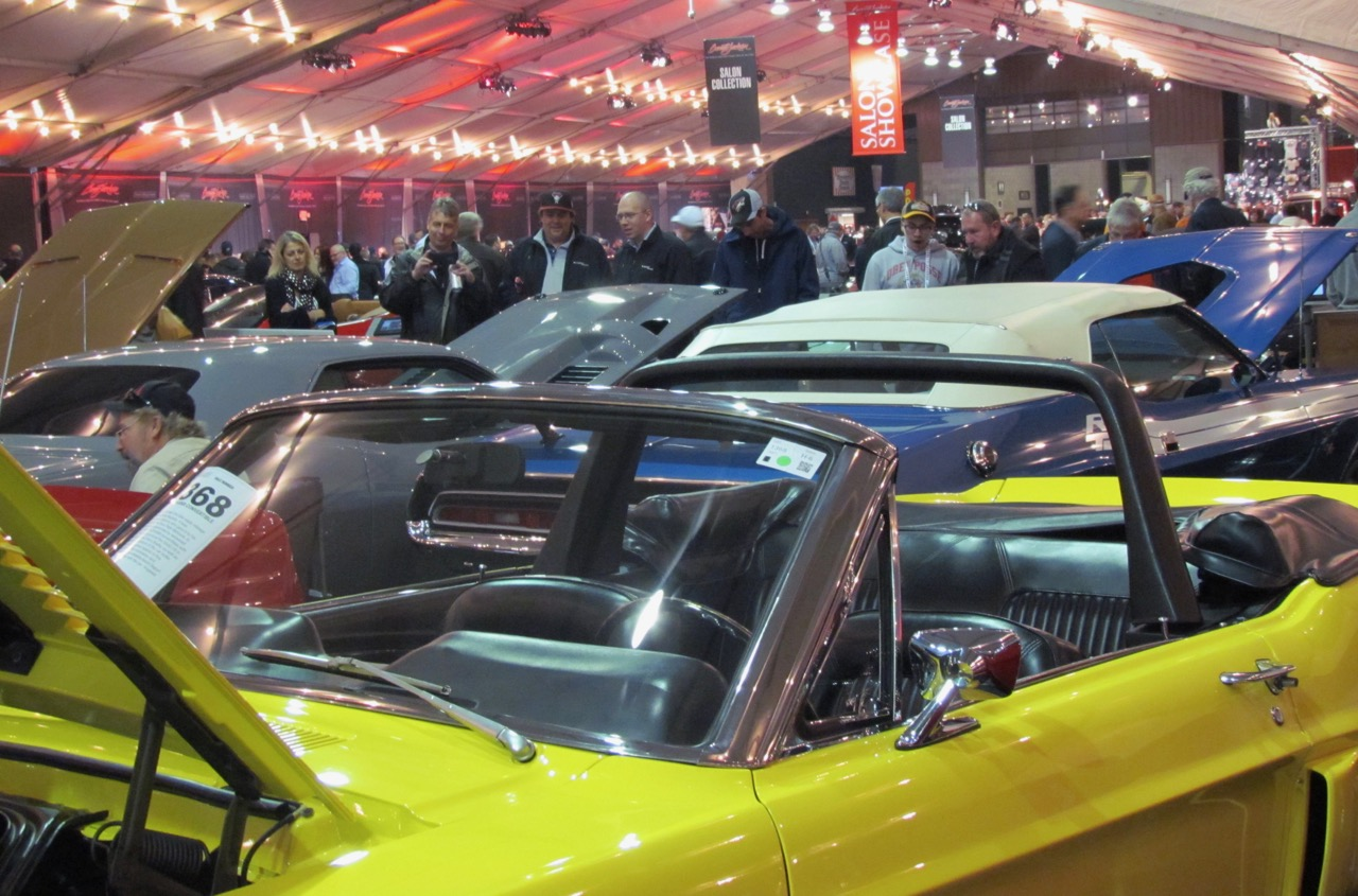 Cars and people compete for space at Barrett-Jackson | Larry Edsall photo