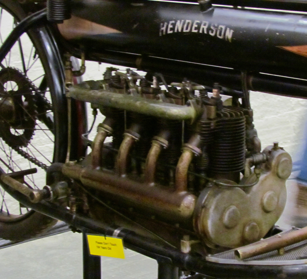 William Henderson was a teenager when he designed this four-cylinder engine