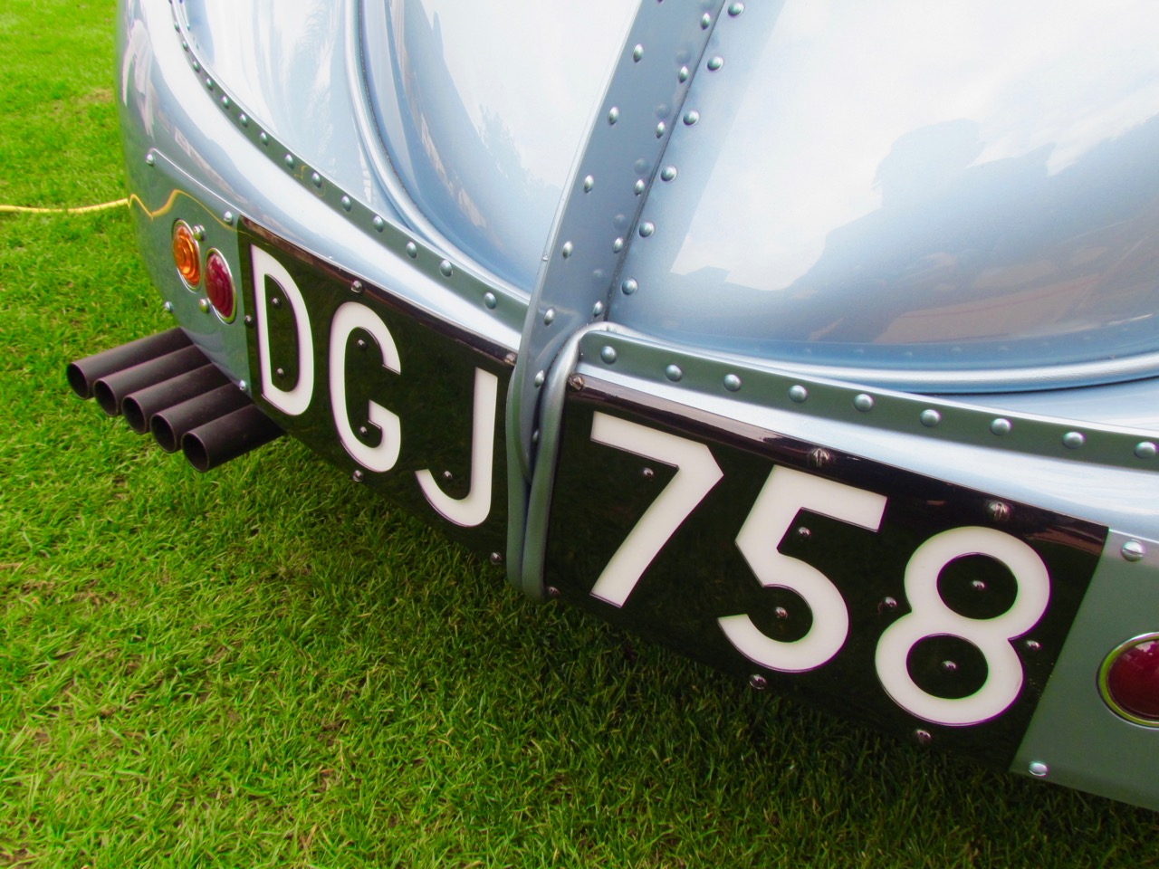 Riveted-together aluminum body panels on the 1936 Bugatti Type 57SC Atlantic