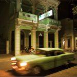 JohnConn_Cuba_GreenCar_Night