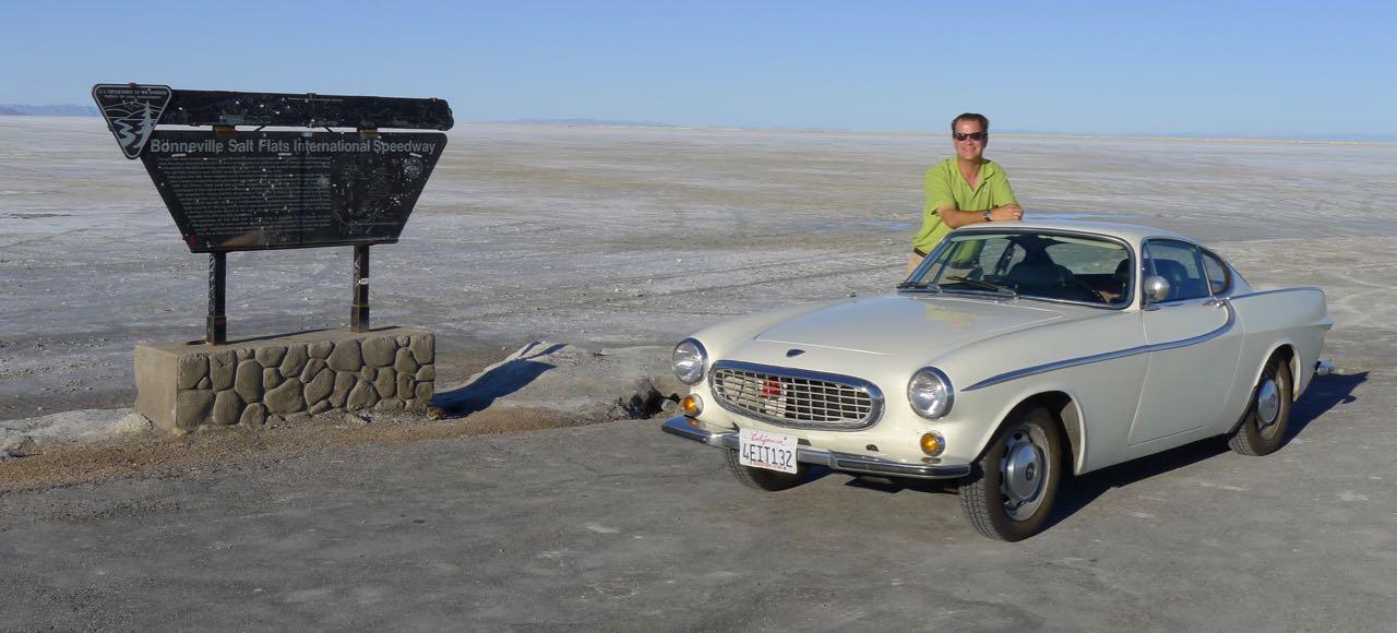 Pit stop at the Bonneville Salt Flats