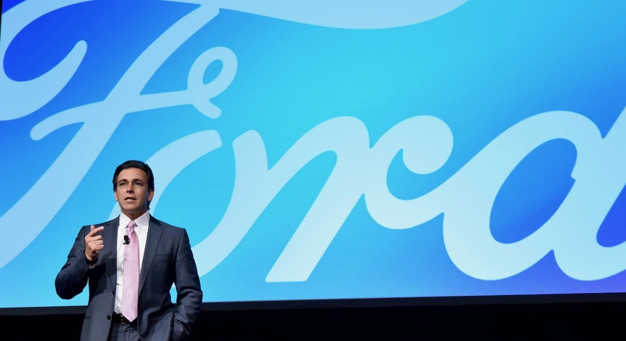 Ford president and chief executive Mark Fields at recent Consumer Electronics Show | Ford photos