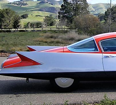 Gilda, a sublime 1955 turbine car, offered at Barrett-Jackson