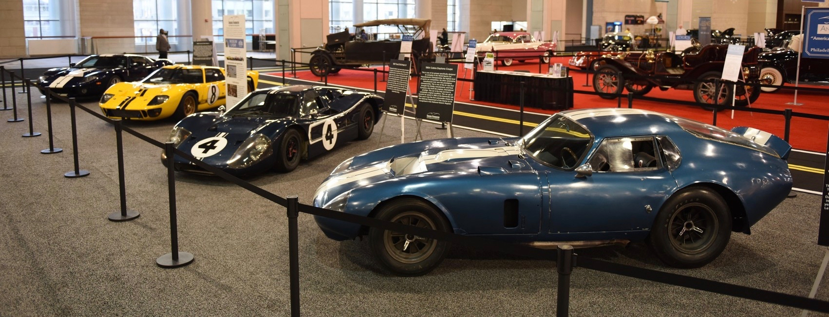 Some of the vehicles in Simeone's 2016 Philadelphia Auto Show display | Museum photos