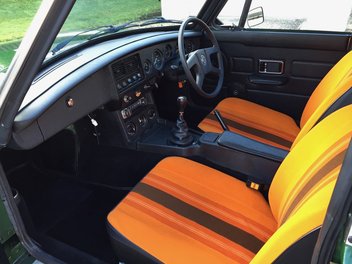 Orange-and-brown interior features 'Deckchair' design