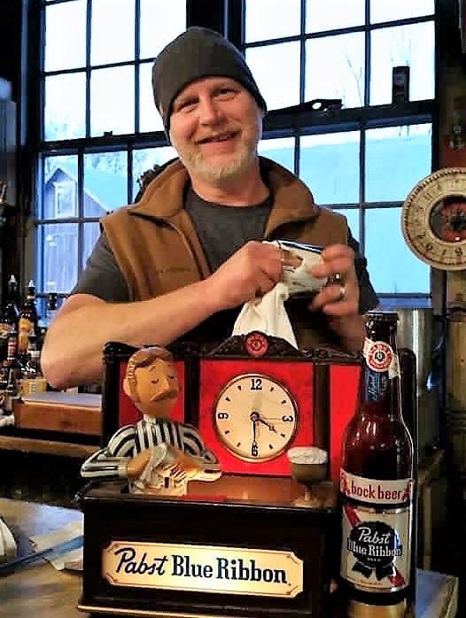 Darvin Frey serves as bartender in the brewpub