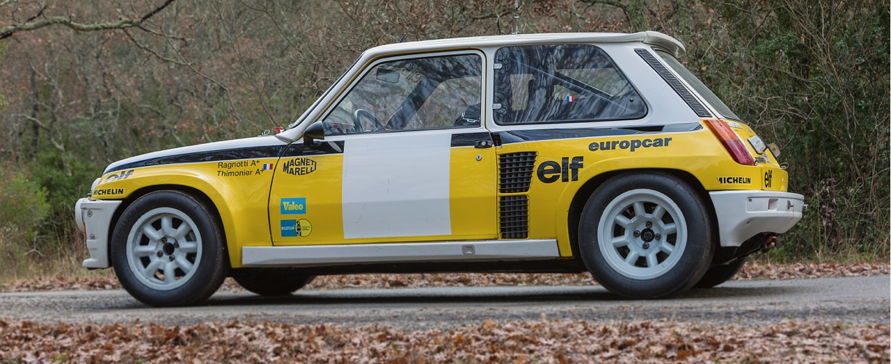 Ex-works Renault Group B rally car sells well