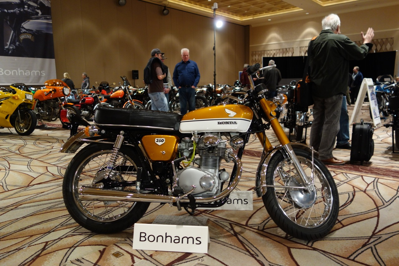 This 1970 Honda CB350 brought $6,325 for charity