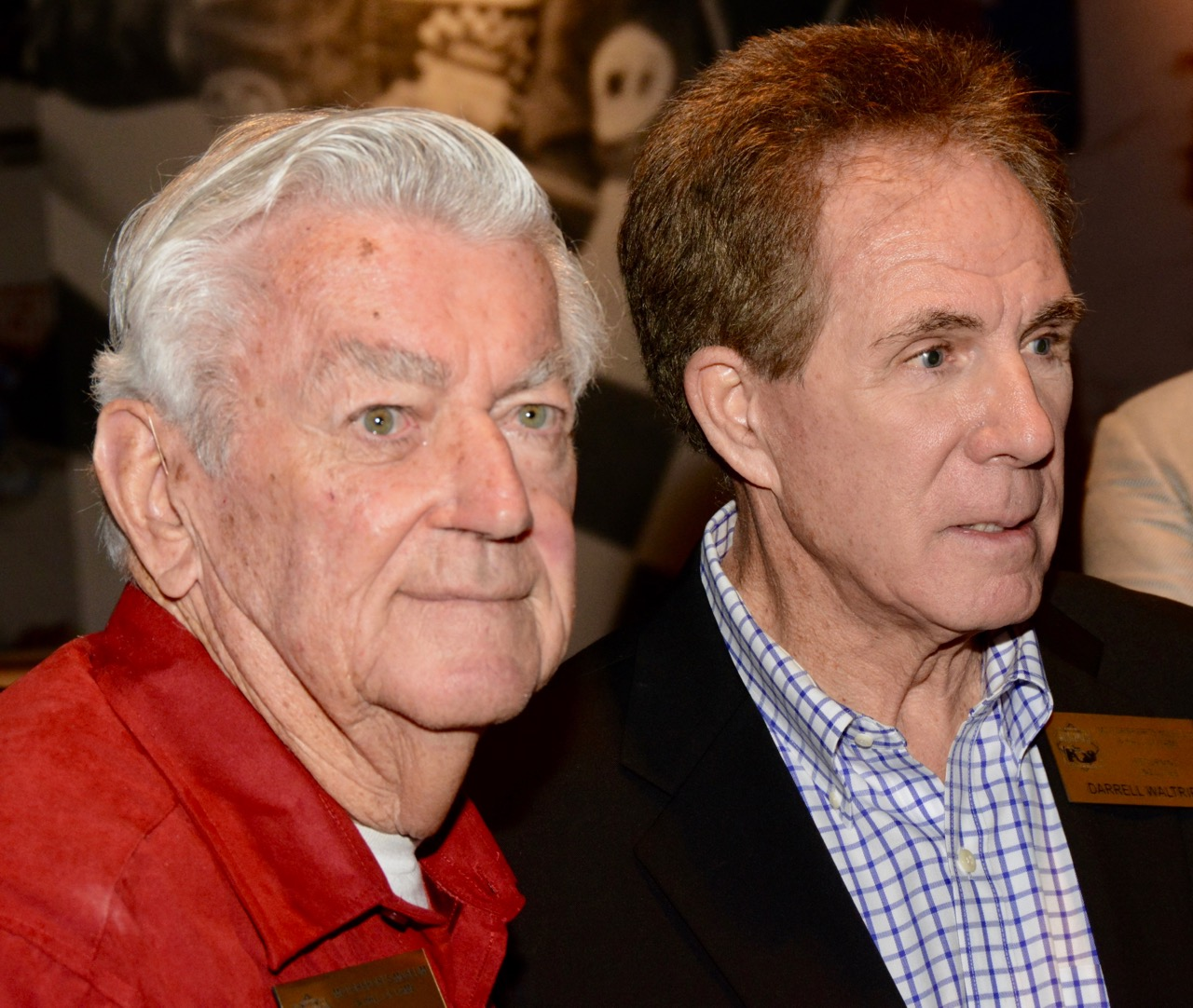 Bobby Allison (left) and Darrell Waltrip were on hand for the opening