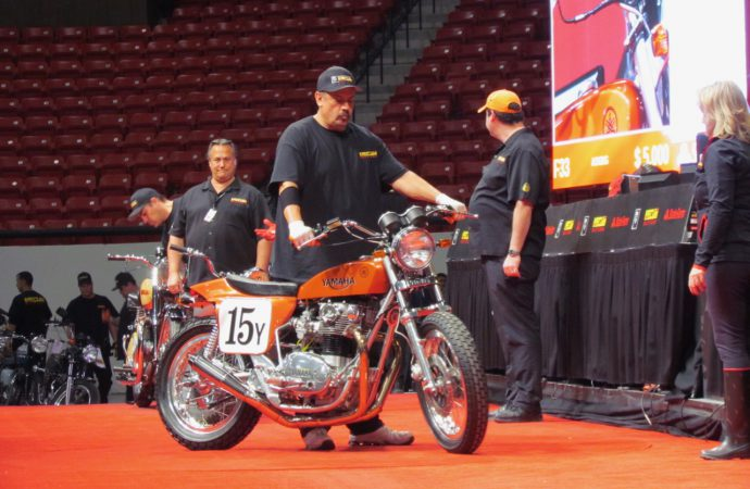 Stunning sell-through rate boosts Mecum's Vegas vintage motorcycle auction to $13.7 million