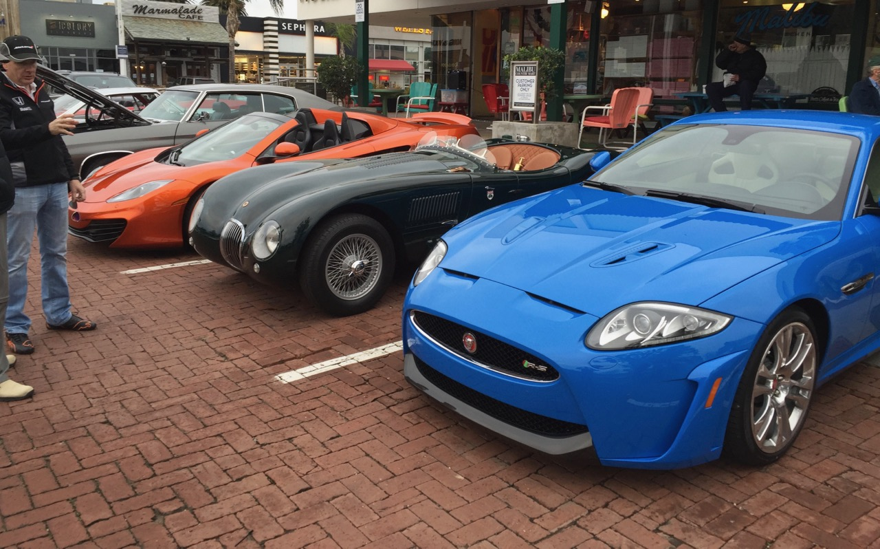 Michael Axon brought his McLaren, C-type and XKR-S