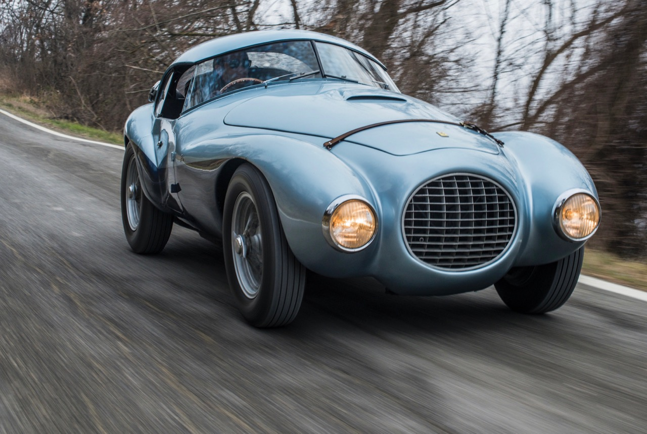 Uniquely bodied 1950 Ferrari 166 MM/212 Export 'Uovo' will be offered at Monterey auction | RM Sotheby's photo by Remi Dargegen