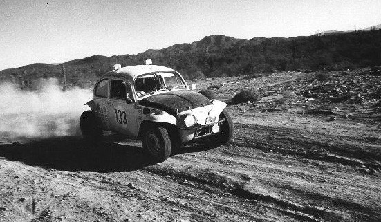 Cupp racing in Baja Mexico in 1972