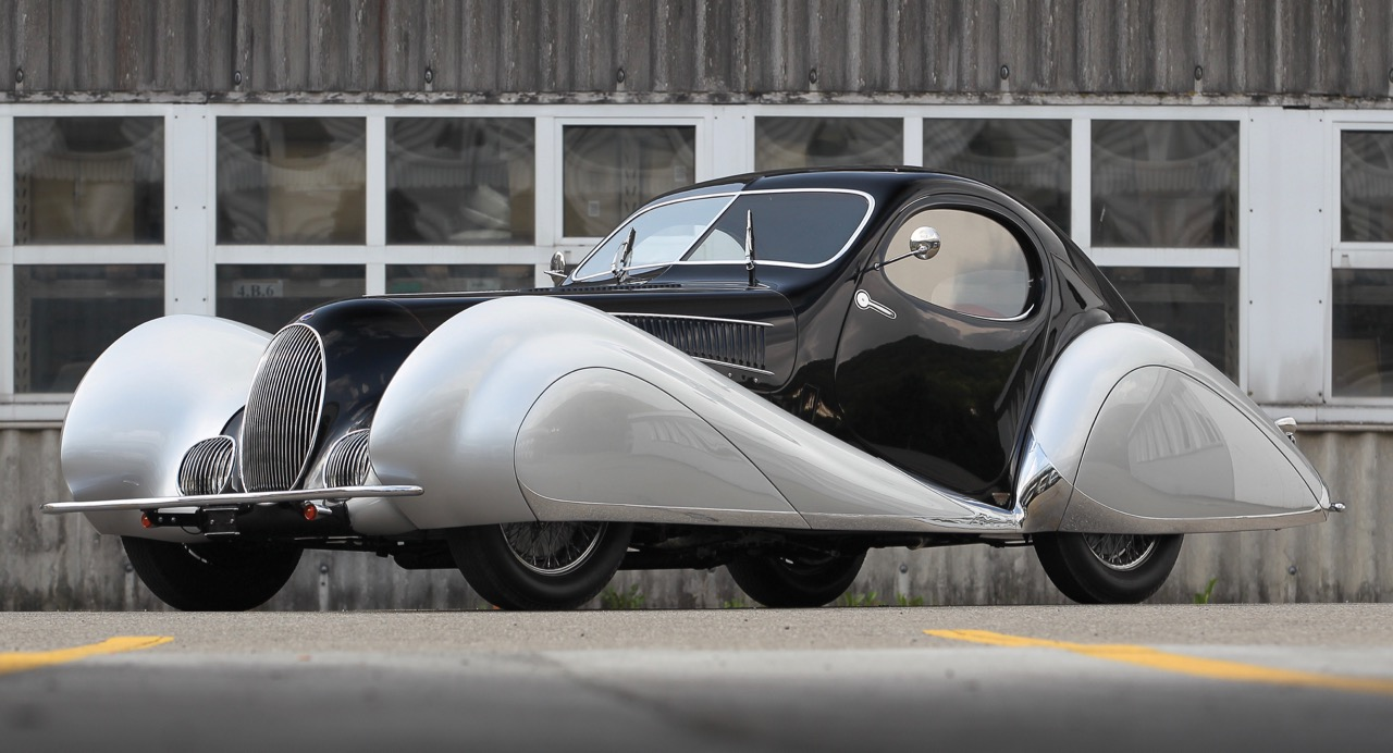 1937 Talbot-Lago T150-C SS coupe by Figoni et Falaschi going to Lake Como sale