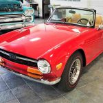 The Triumph TR6 is powered by a feisty six-cylinder engine